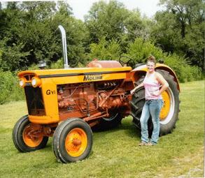 Joe restored the U302 tractor.