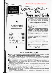 Photo of the original contest ad
