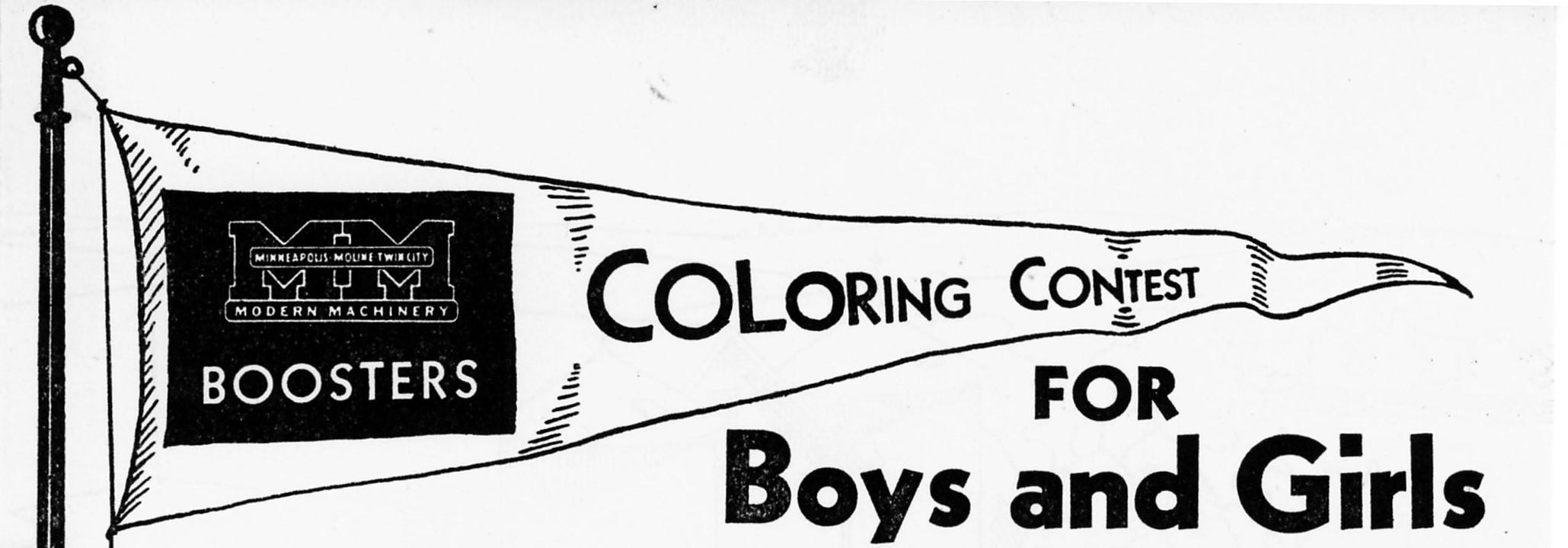 Original 1935 Contest Banner